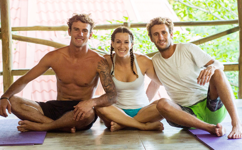 Surf and yoga instructors